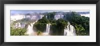 Framed Landscape of floodwaters at Iguacu Falls, Brazil