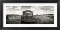 Framed Old truck in a field, Napa Valley, California, USA