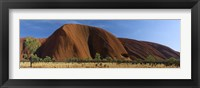 Framed Sandstone rock formations, Uluru, Northern Territory, Australia