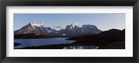 Framed Lake Pehoe in Torres Del Paine National Park, Patagonia, Chile