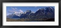 Framed Lake Nordenskjold in Torres Del Paine National Park, Chile