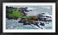 Framed Golf course on an island, Pebble Beach Golf Links, Pebble Beach, Monterey County, California, USA