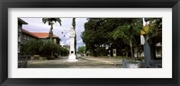 Framed Clock tower in a city, Victoria, Mahe Island, Seychelles