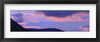 Framed Sunrise over mountains, Argentine Glaciers National Park, Patagonia, Argentina