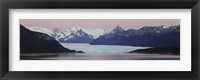 Framed Glaciers and mountains, Moreno Glacier, Argentine Glaciers National Park, Patagonia, Argentina