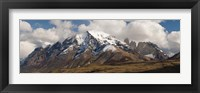 Framed Clouds over snowcapped mountains, Towers of Paine, Mt Almirante Nieto, Torres Del Paine National Park, Chile