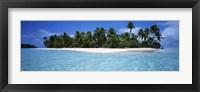 Framed Tapuaetai Motu from the Lagoon, Aitutaki, Cook Islands