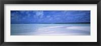 Framed Motus and Lagoon viewed from a sandbar, Aitutaki, Cook Islands