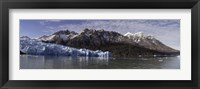 Framed Lago Grey and Grey Glacier with Paine Massif, Torres Del Paine National Park, Magallanes Region, Patagonia, Chile