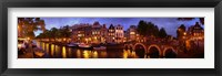 Framed Amsterdam at Dusk, Netherlands