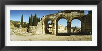 Framed Arched facade in ruins of Hierapolis at Pamukkale, Anatolia, Central Anatolia Region, Turkey