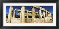 Framed Close up of columns in ruins, Hierapolis at Pamukkale, Anatolia, Central Anatolia Region, Turkey