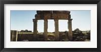 Framed Ruins of Hierapolis at Pamukkale, Anatolia, Central Anatolia Region, Turkey