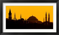 Framed Silhouette of a mosque, Blue Mosque, Istanbul, Turkey