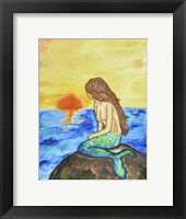 Framed Mermaid at Sunset