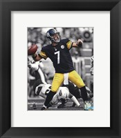 Framed Ben Roethlisberger 2013 Spotlight Action