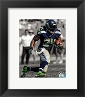 Framed Marshawn Lynch 2013 Spotlight Action