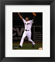 Framed Koji Uehara celebrates winning Game 6 of the 2013 World Series