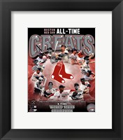 Framed Boston Red Sox All Time Greats Composite