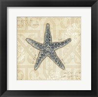 Beach Treasures II - square Framed Print