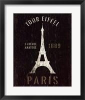 Framed Refurbished Eiffel Tower