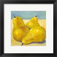 Framed Tres Pears