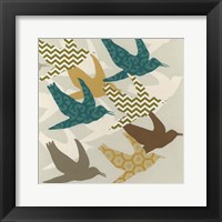 Patterned Flock I Framed Print