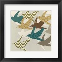 Patterned Flock II Framed Print