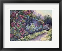 Framed Monet's Garden VI
