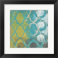 Neo Lattice I Framed Print