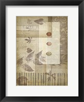 Small Notebook Collage III Framed Print