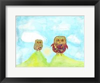 Framed Hilltop Owls