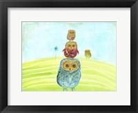Framed Owl Totem