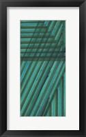 Framed Line Study Blue