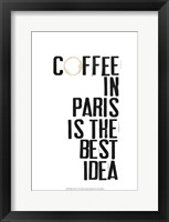 Framed Drinks in Paris I