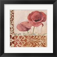 Framed Portrait of Poppies