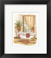 Framed Watercolor Bath in Spice II