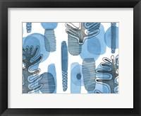 Mod Leaves II Framed Print