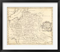 Framed Map of Poland