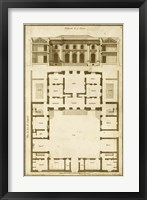 Framed Vintage Building & Plan I