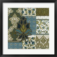 Persian Patchwork I Framed Print