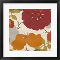 Hibiscus Fresco II Framed Print