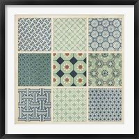 Pattern Patch II Framed Print