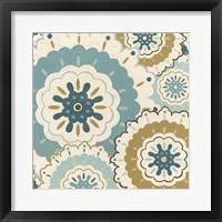 Blue Lace I Framed Print