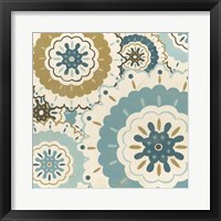 Blue Lace IV Framed Print
