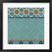 Moroccan Tile I Framed Print