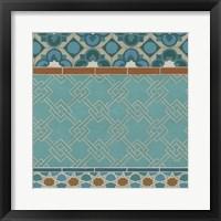 Moroccan Tile II Framed Print