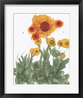 Framed Poppy Whimsy I
