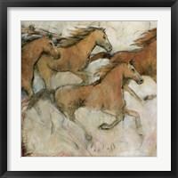 Horse Fresco I Framed Print