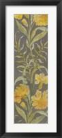 June Floral Panel I Framed Print